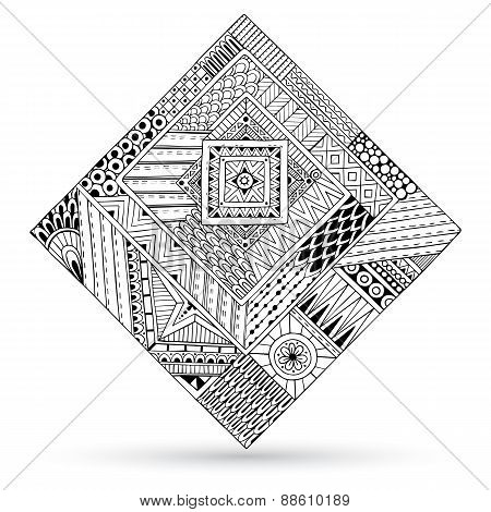 Abstract striped geometric tribal pattern.