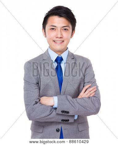 Confident and friendly business man portrait