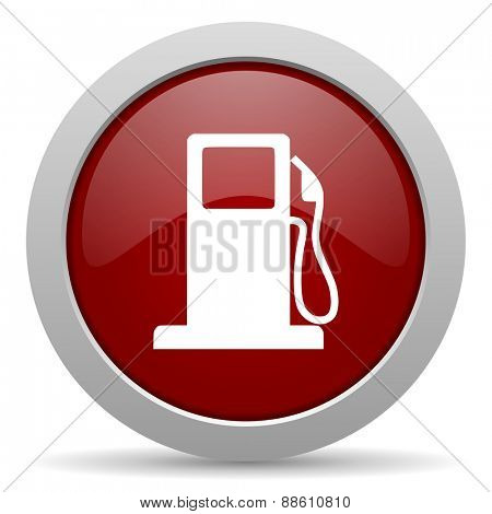 petrol red glossy web icon