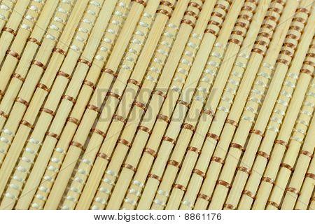 Traditional Bamboo Matt Dioganal Close-up Background