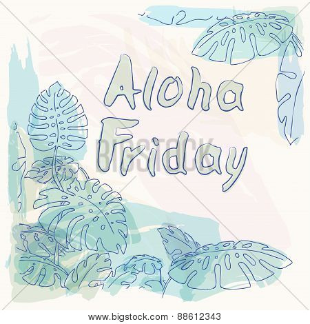 Aloha Friday Jungle Palm Leaves