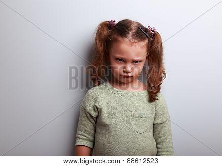 Sad Abandoned Kid Girl Looking Unhappy