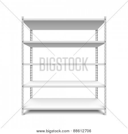 Empty storage shelves vector illustration