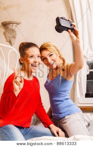 Two Girls Doing Themselves Photo