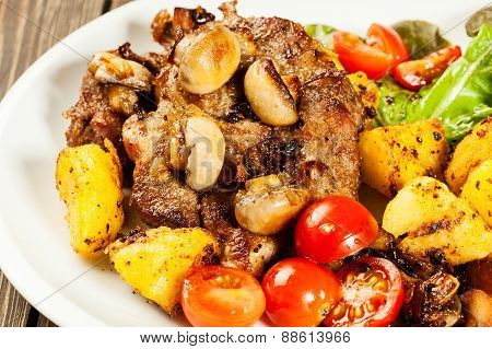 Fried Pork Chop With Mushrooms