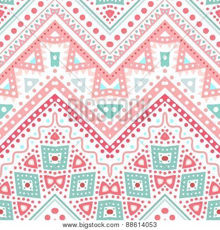 Tribal ethnic zig zag pattern. Vector illustration