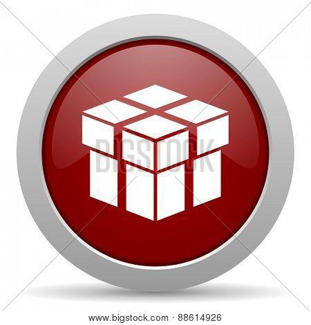 box red glossy web icon