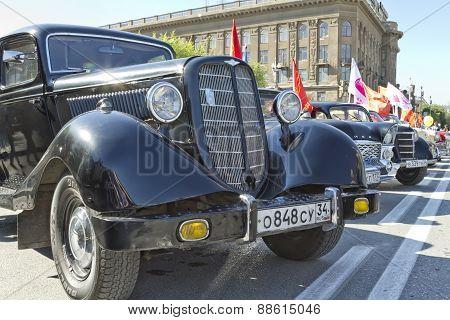 Exhibition of retro cars