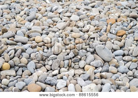 Stones on a beach, good for background