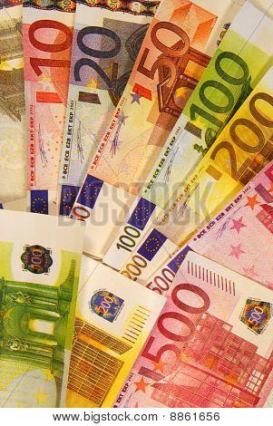 Euro moeda, notas europeias, dinheiro europeu