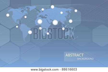 Global Communicational Channels Background. Vector Illustration