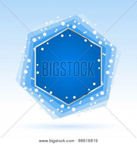 Abstract Blue Hexagon. Vector Illustration