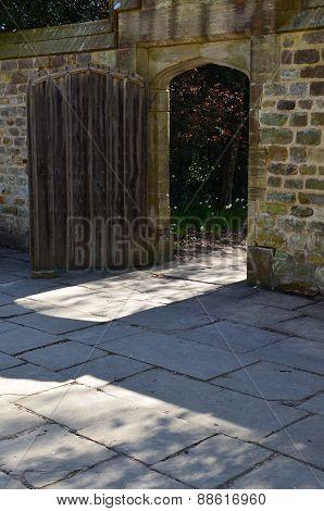 Courtyard entrance to a secret garden