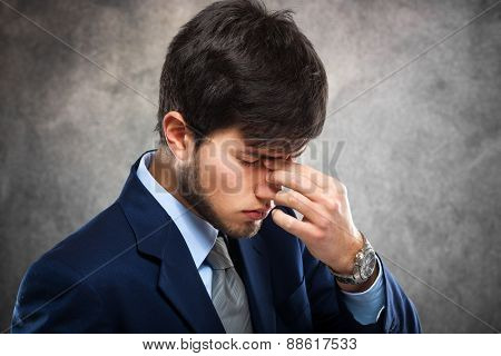 Portrait of a worried businessman