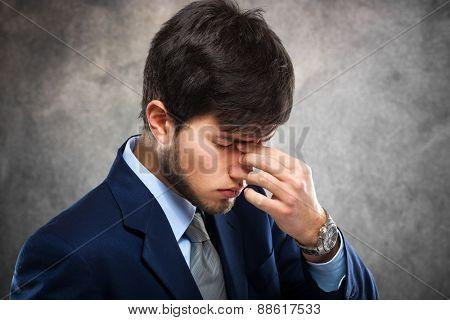 Portrait of a worried businessman