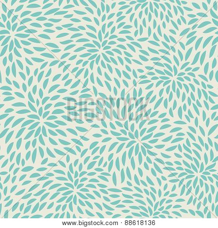 Seamless abstract flowers pattern. Floral background.