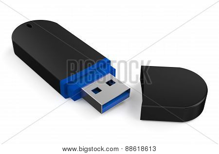 New Black Usb Flash Drive Ss 3.0