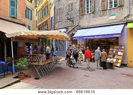 Old Town In Nice, France.