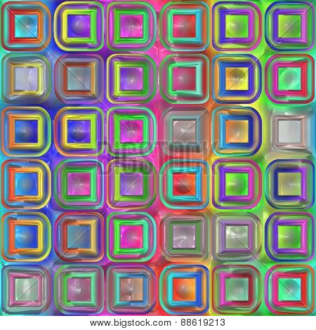 Box Tiles Seamless Generated Texture
