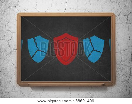 Security concept: shield icon on School Board background