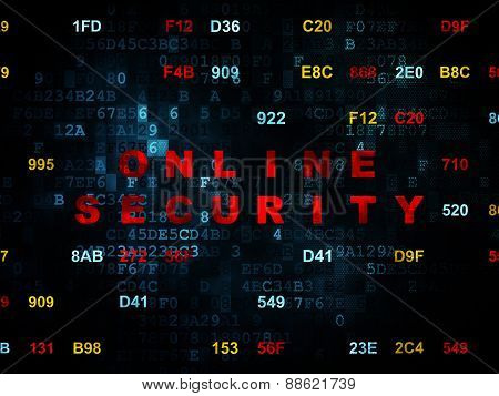 Protection concept: Online Security on Digital background