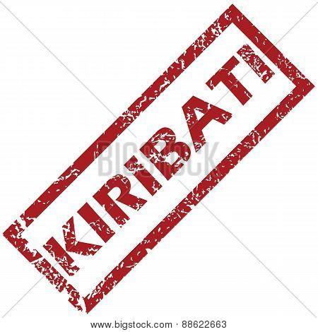 New Kiribati rubber stamp