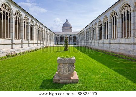 Architecture of Monumental Cemetery in Pisa, Italy