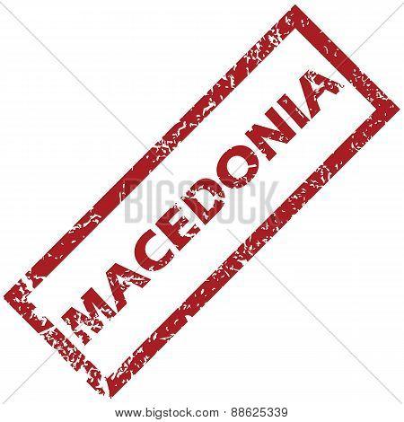 New Macedonia rubber stamp