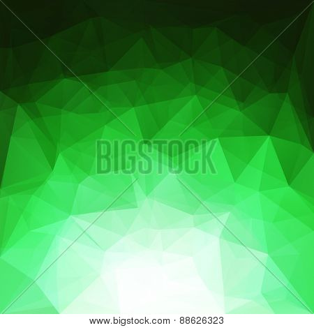Abstract green geometric triangles background - eps10