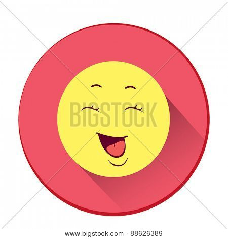 Smiley. Single flat color icon. Vector illustration