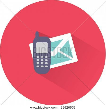 Flat Vector SMS Icon
