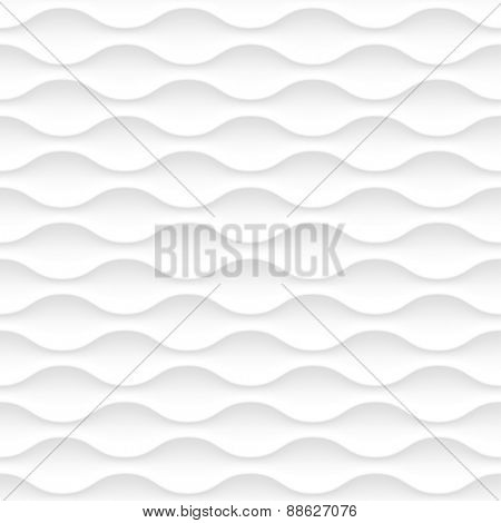 Seamless vector white background of abstract waves.