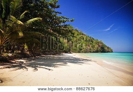 Unspoiled tropical beach in Thailand