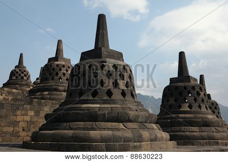 Borobudur Temple in Magelang, Central Java, Indonesia.