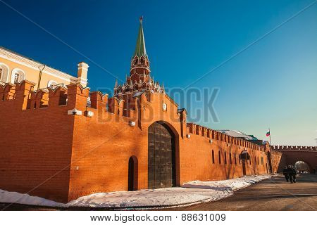 Red Square in winter.  Moscow, Russia