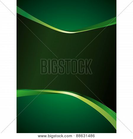Green Background With Glossy Elements
