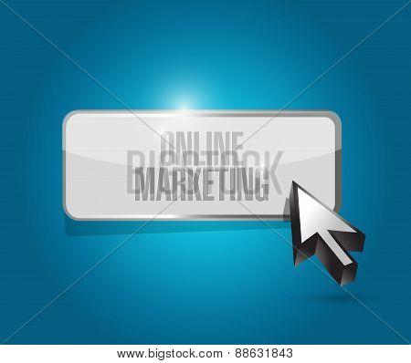 Online Marketing Button Sign Illustration