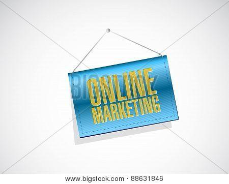 Online Marketing Banner Sign Illustration