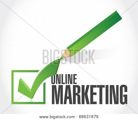 Online Marketing Pencil Check Sign