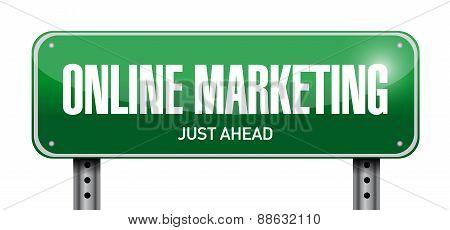 Online Marketing Post Sign Illustration