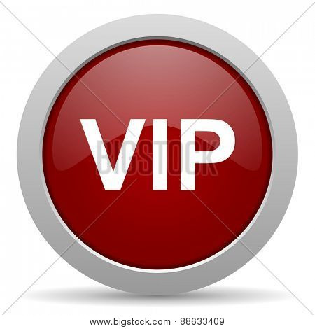 vip red glossy web icon