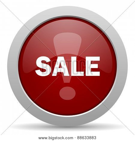 sale red glossy web icon