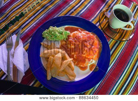 Guatemalan Egg Breakfast