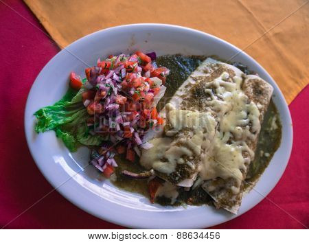 Enchiladas chicken salsa verde