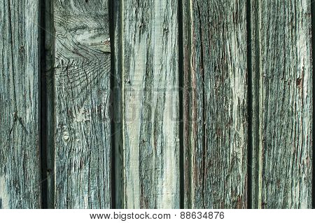 Fade blue wooden board wall