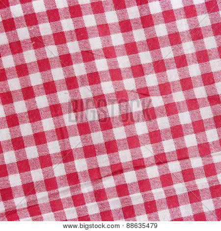 Checkered Picnic Blanket background.