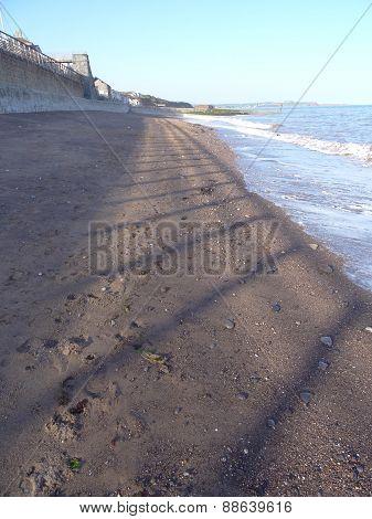 Beach Promenade And Shadows Seascape