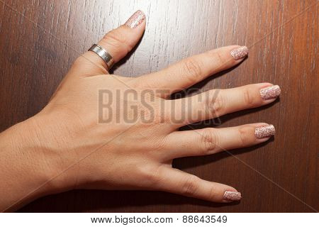 Woman Hand Manicured