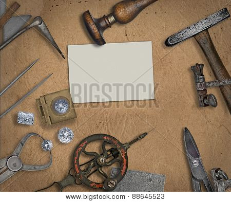 Vintage Jeweler Tools And Diamonds
