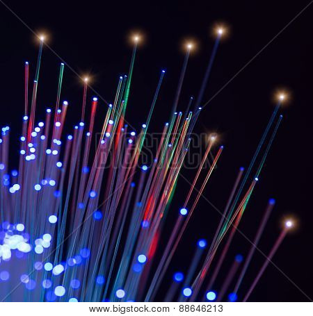 multicolor fiber optics